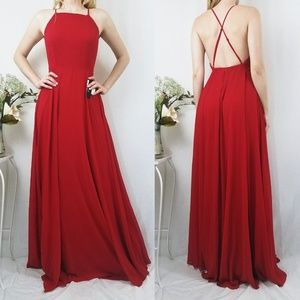 LuLus Mythical Kind of Love Red Maxi Dress
